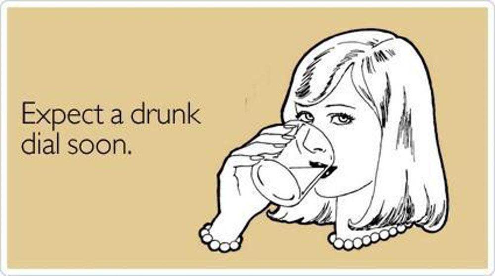 Klicanje bivšega pod vplivom alkohola